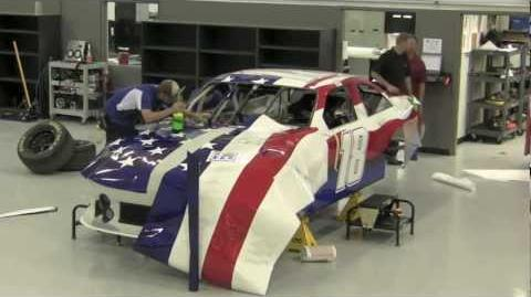 Incredible Timelapse Wrap of American Flag NASCAR car for Kyle Busch