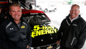 Bowyer (left) with team owner Harry Scott jr