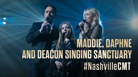 "NASHVILLE on CMT Deacon, Maddie and Daphne Sing ""Sanctuary"""