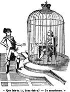 Caricature LouisXVI Sanction