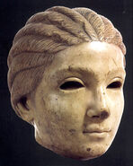 Stone portrait of a girl from roman city of Salona, 3th century AD