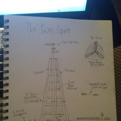 A sketch of the Sun Spire, United Alaska's former federal government building.