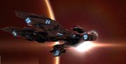 Fujin caldari battlecruiser by dasaniwaters-d30pzem