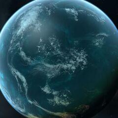 Clark, the 32nd moon of New Alaska's neighbor planet, Cak-6, where United Alaska claims New Kodiak Island.