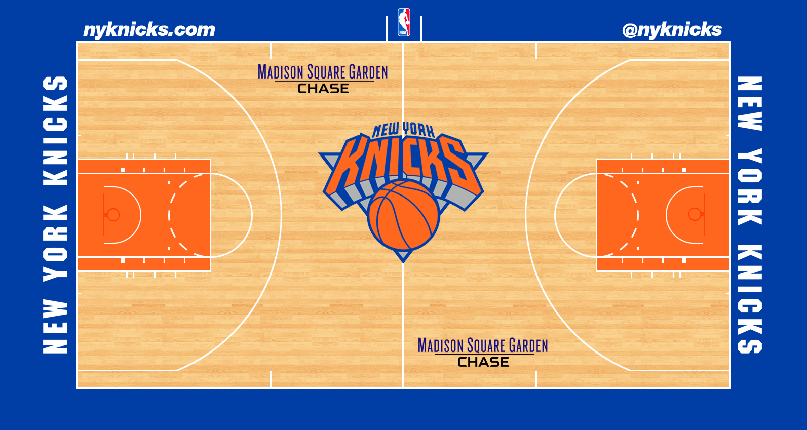Image - New York Knicks court logo.png | Basketball Wiki ...