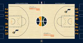 Utah Jazz court logo 2016