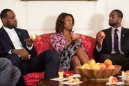 LeBronJames MichelleObama DwyaneWade