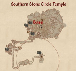 Southern Stone Circle Temple map
