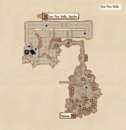 Iron Fire Halls exit map