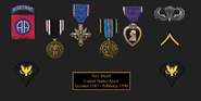 Neil army medals for display case