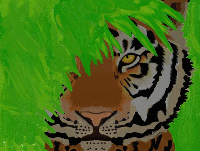 File:TigeRawr complete! Head in bush.png