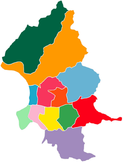 Districts of Taipei-Taiwan