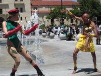 Cammy & Dhalsim cosplayers at FanimeCon 2010-05-30 1