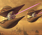 Geonosian starfighters