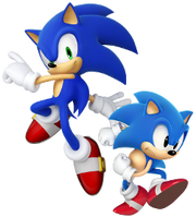 Sonic modern and classic designs