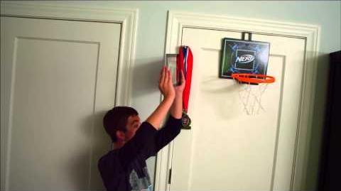 NERF Stunts Cyber Hoop Basketball Bookcase Bounce Perfect Shots