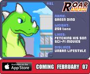 Roar rampage green dino