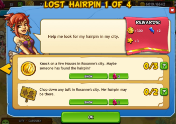 Lost hairpin 1 of 4