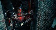 Cyborg looks in Window
