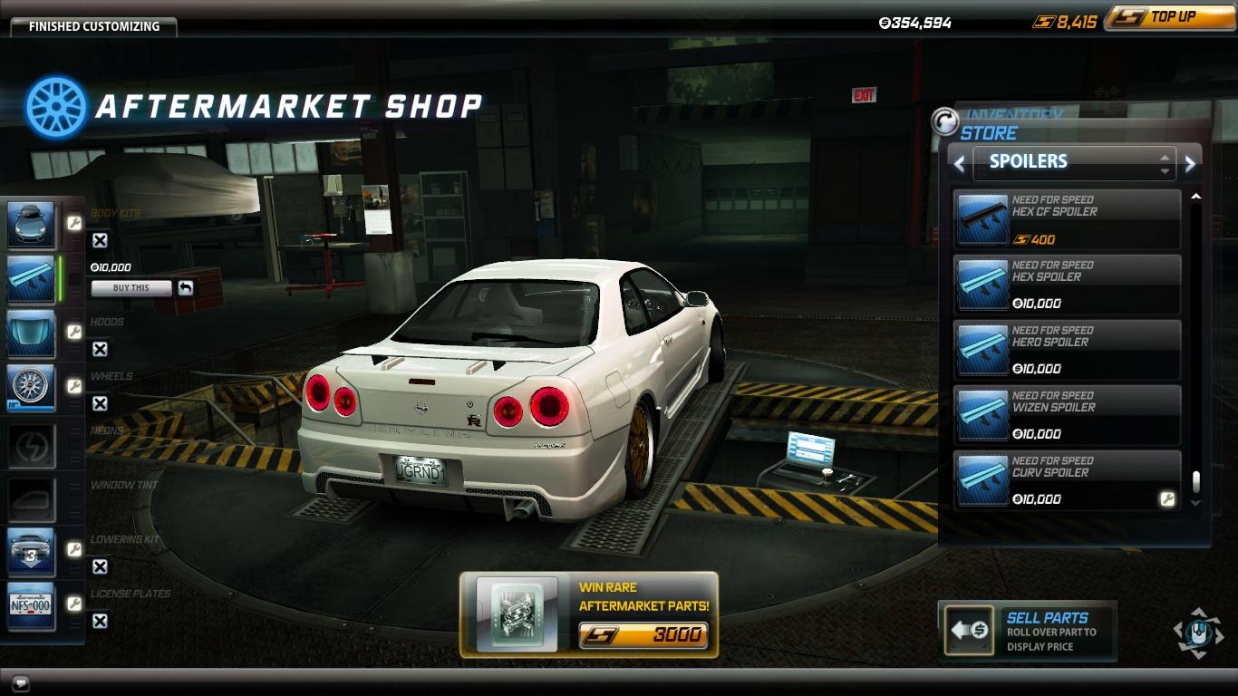 Image  Spoiler Nissan Skyline GTR VSpec R34 Curv Rjpg  NFS