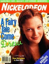 Nickelodeon magazine cover september 1998 drew barrymore