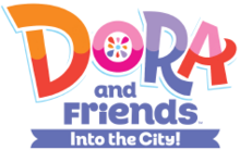 Dora and Friends Into the City - Original logo