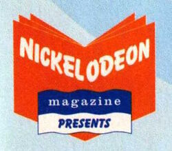 Nickelodeon Magazine Presents logo with book