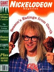 Nickelodeon Magazine cover Holiday 1993 Dana Carvey Garth Algar Waynes World