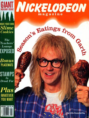 File:Nickelodeon Magazine cover Holiday 1993 Dana Carvey Garth Algar Waynes World.jpg