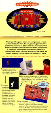 Nickelodeon Arcade article NickMag apr may 1994