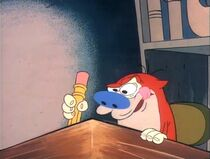 Stimpy writing