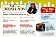 Nickelodeon Magazine March 1996 Ask the Boss Lady ooze news Geraldine Laybourne interview