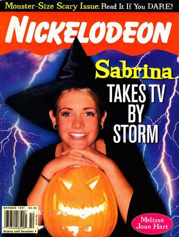 File:Nickelodeon magazine cover october 1997 sabrina teenage witch.jpg