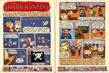 Nickelodeon Magazine Grampa Julie Shark Hunters June July 2000