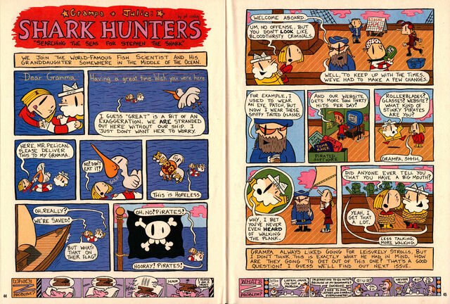 File:Nickelodeon Magazine Grampa Julie Shark Hunters June July 2000.jpg
