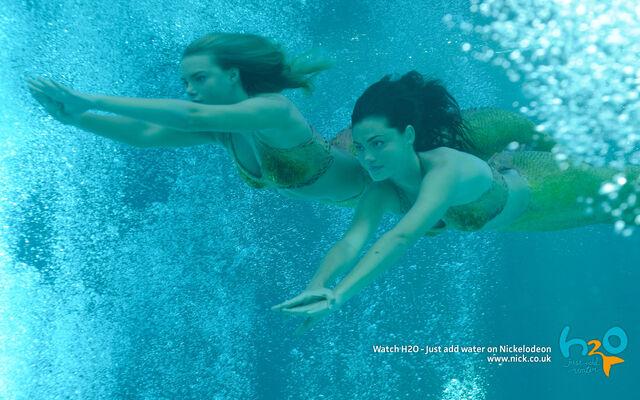 File:Swimming mermaids cleo bella.jpg
