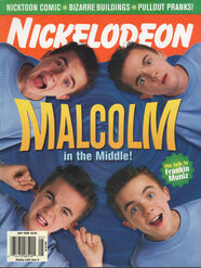 Nickelodeon Magazine cover May 2000 Malcolm in the Middle Frankie Muniz