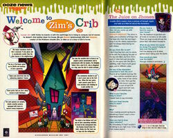 Nickelodeon Magazine May 2001 Invader Zim Jhonen Vasquez