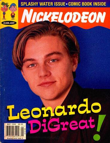 File:Nickelodeon magazine cover may 1998 leonardo dicaprio.jpg