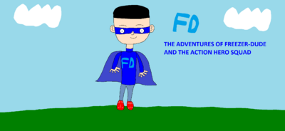 The Adventures of Freezer-Dude and the Action Hero Squad screen title