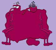 The Plum Blob character