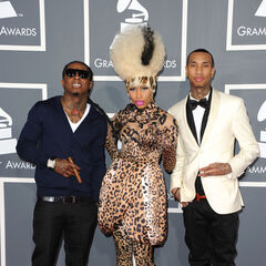 Lil Wayne,Nicki Minaj and Tyga at the 2011 Grammy Awards
