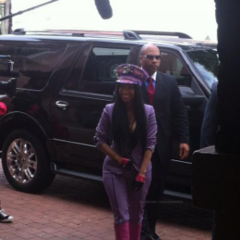 Nicki looks fabulous in San Antonio