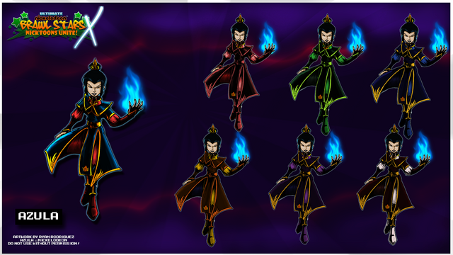 File:Nicktoons azula palette swaps by neweraoutlaw-d5qmnuy.png