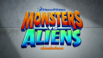 Monsters vs. Aliens intertitle