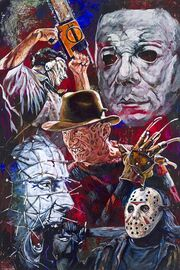 Horror-movie-villains-fine-art-print-featuring-jason-freddy-krueger-leatherface-pinhead-and-michael-myers-11