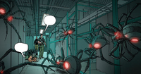 Grayson 14 - Dick confronts Security drones in Eternal Circle