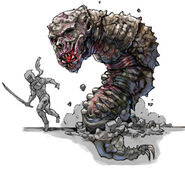 NG2 Art Enemy Amazonian Death Worm 1