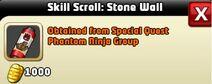 Skill Scroll Stone Wall