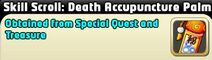 Death accupuncture skill scroll